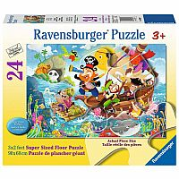24 Piece Land Ahoy Floor Puzzle