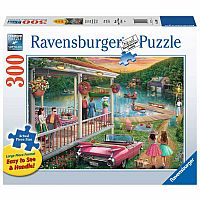 300 Piece Summer at the Lake Large Format Puzzle