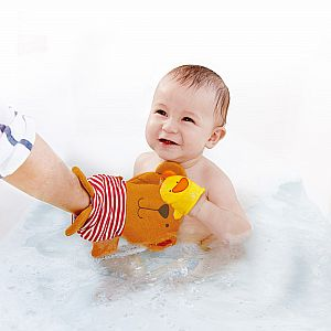 Teddy and Duck Bath Mitt Set